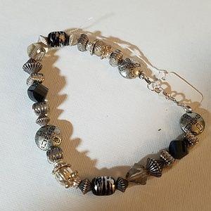 "Silver Beaded 11"" Bracelet"